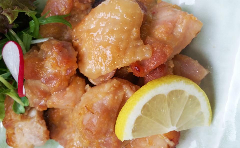 秘伝の味噌漬け、鶏もも肉のスタミナ焼き