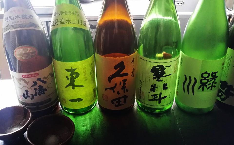 美味しい日本酒を取り揃えております。